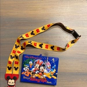 Disney Autograph Book and Lanyard